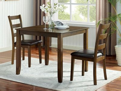 Gracefield Dining Set For 2 Walnut And Dark Brown