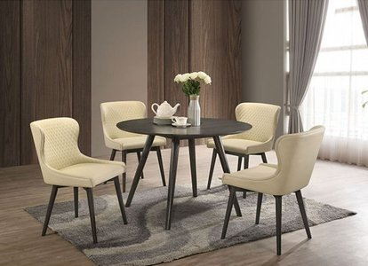 Kniya Round Dining Table Gray