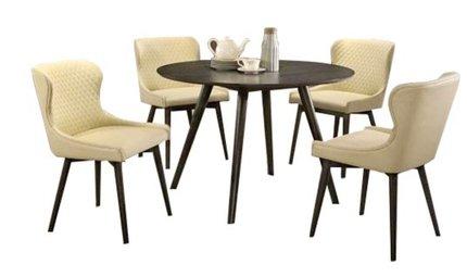 Kniya Round Dining Table Gray