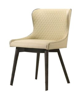 Kniya Side Chair Gray And Cream (Set of 2)