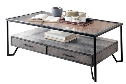Ponderay Coffee Table Gray And Black