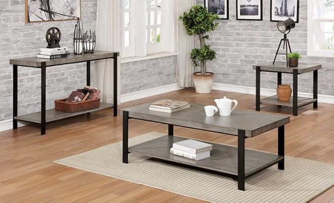Huckleberry Coffee Table Gray Wash And Sand Black