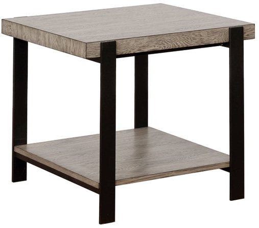 Huckleberry End Table Gray Wash And Sand Black