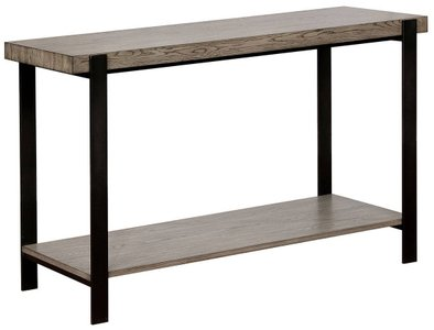 Huckleberry Sofa Table Gray Wash And Sand Black