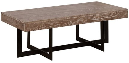 Sawyer Coffee Table Gray Wash And Sand Black