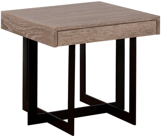 Sawyer End Table Gray Wash And Sand Black