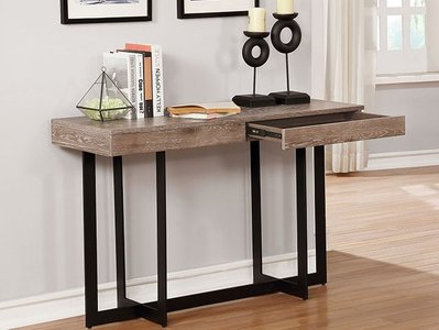 Sawyer Sofa Table Gray Wash And Sand Black