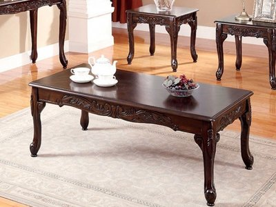 Cheshire Coffee Table Set Dark Cherry