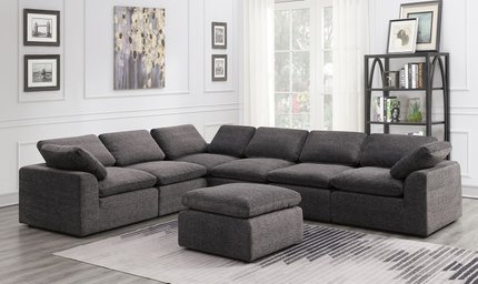 Joel Reversible Sectional Sofa Gray