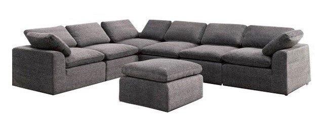 Joel Reversible Sectional Sofa Gray
