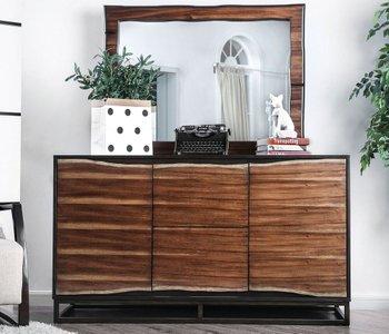 Fulton Dresser Dark Oak And Dark Walnut