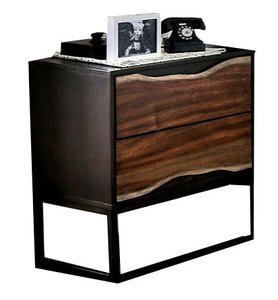 Fulton Night Stand Dark Oak And Dark Walnut
