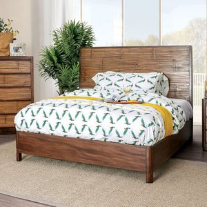 Covilha Queen Bed Antique Brown