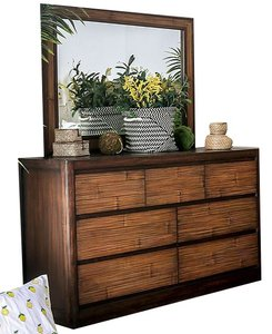 Covilha Dresser Antique Brown