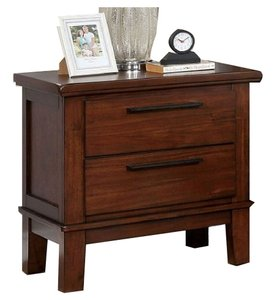Knighton Night Stand Brown Cherry