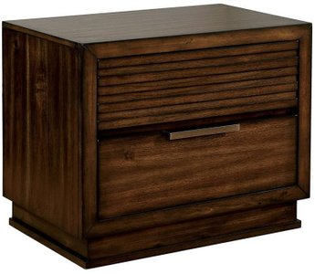 Torino Night Stand Walnut
