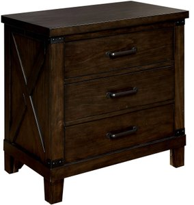Bianca Night Stand Dark Walnut