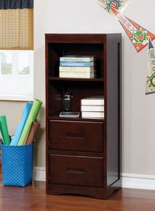 Pearland Bookcase Dark Walnut