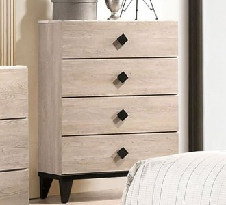 Elaina Chest Beige And Espresso