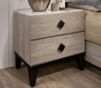 Elaina Night Stand Beige And Espresso