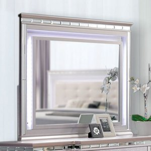 Claudette Mirror Silver Rose