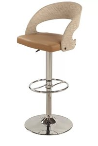 Adjustable Height Swivel Bar Stool Silver