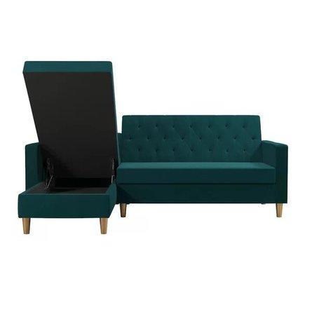 Liberty Reversible Sleeper Sectional Sofa Green