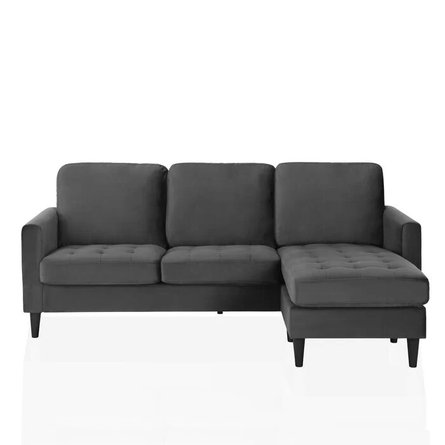 Strummer Reversible Sectional Charcoal Gray