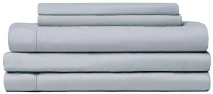 Snowe 5-Piece Percale Starter Sleep Bundle Full Slate Blue