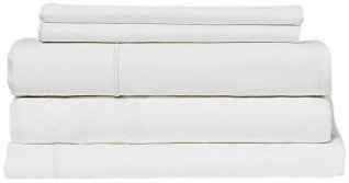 Snowe 5-Piece Percale Starter Sleep Bundle Full Essential White