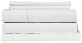 Snowe 5-Piece Percale Starter Sleep Bundle Queen Essential White