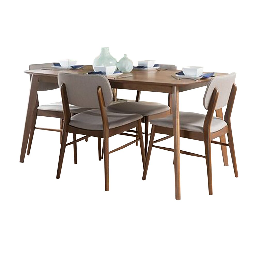 Rent In San Francisco Bay Area: Rent Drumadried Dining Set For 4 Light Gray/Brown