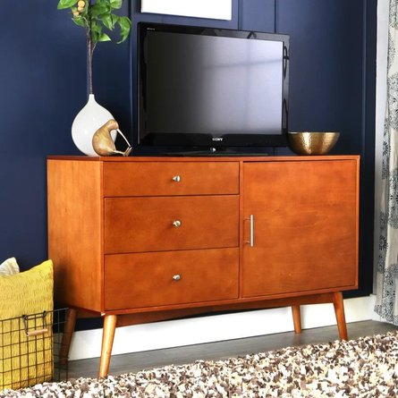 "Jossely TV Stand for TVs up to 55"" Acorn"