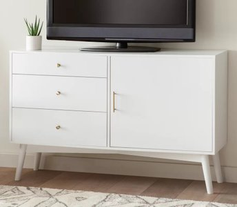 "Jossely TV Stand for TVs up to 55"" White"