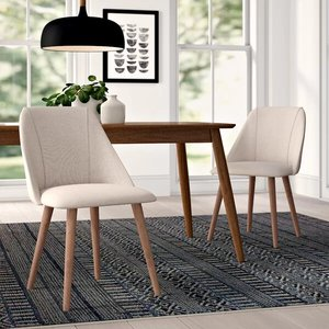 Javier Upholstered Dining Chair Flair Sand (Set Of 2)