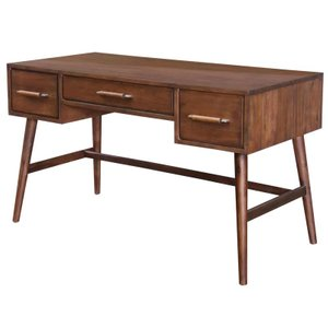 Kathryn 3 Drawer Writing Desk Brown