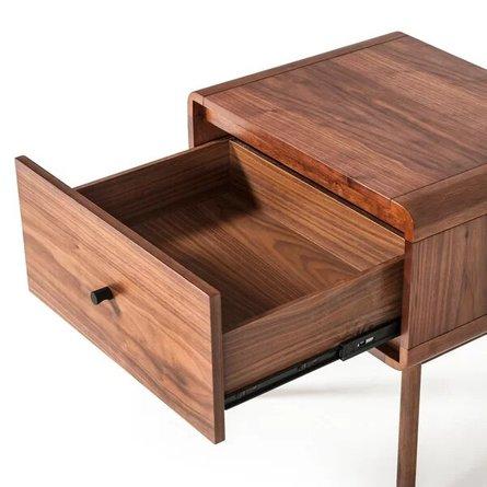 Tanya Mid-Century 1 Drawer Nightstand Walnut