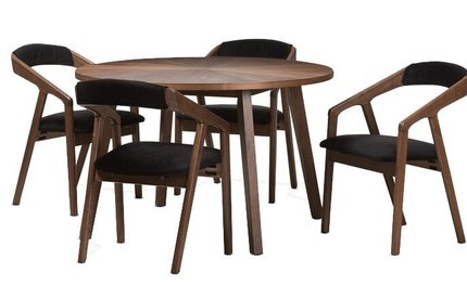 Averi Dining Set For 4 Brown And Black