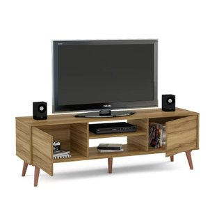 "Icrun Stylish TV Stand for TVs up to 65"" Brown"