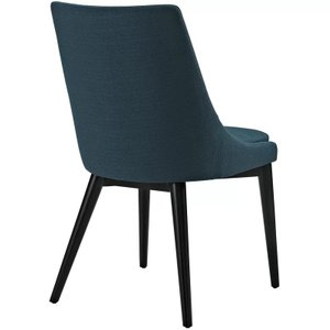 Bolling Wood Leg Upholstered Dining Chair Azure