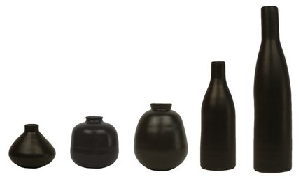 Morandi Table Vase Black (Set of 5)