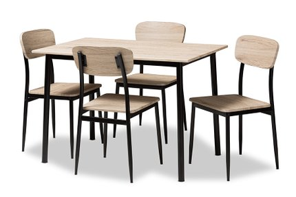 Honore Dining Set For 4 Light Brown