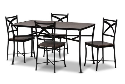 Josie Dining Set For 4 Brown And Black