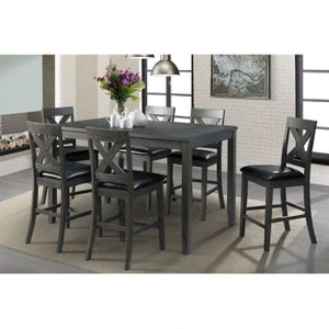 Alexa Counter Height Dining Set For 6 Gray