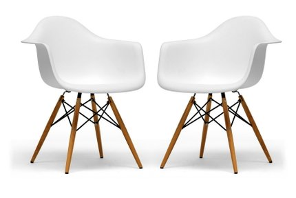 Pascal Dining Chair White (Set of 2)