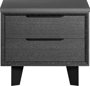 Amsterdam Nightstand Gray Oak