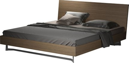 Broome Queen Bed Latte Walnut