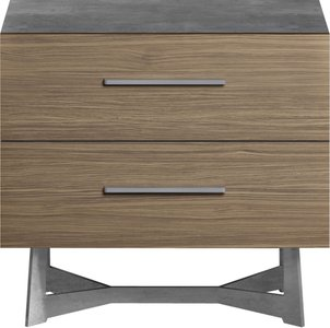 Broome Nightstand Latte Walnut