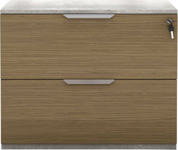 Broome Lateral Filing Cabinet Latte Walnut