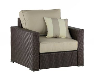 Jeffreybrook Outdoor Arm Chair Brown Wicker